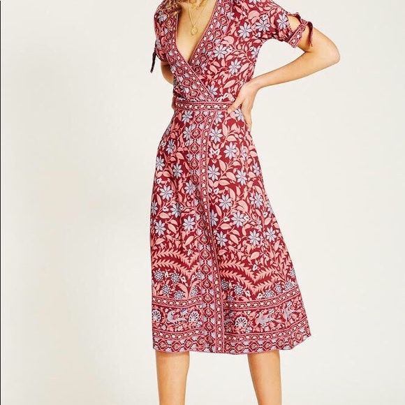 Arnhem Marigold MIDI Wrap Dress